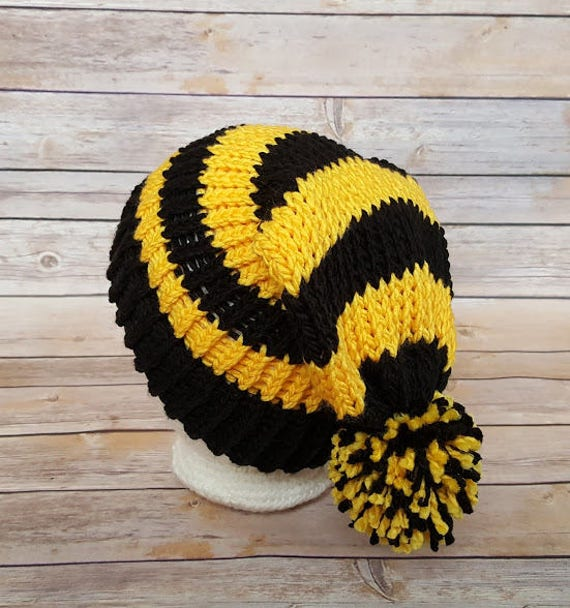 HP Wizard Hat Black and Yellow Hat Black Gold Beanie Hat  43101b22aa8