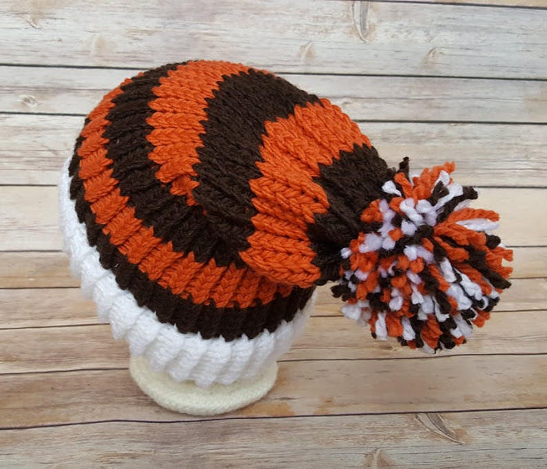 factory authentic lace up in fashion Orange Brown Slouchy Hat Orange Brown Sports Team Hat Browns | Etsy