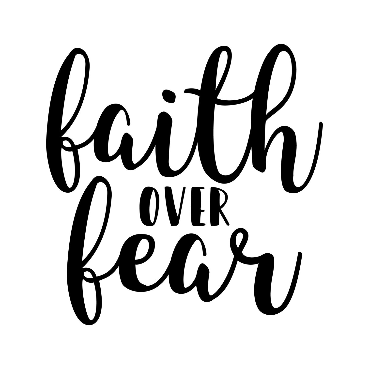 Faith Over Fear / Instant Download / Clipart graphic files ...