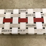Fire Hose Bench - Firefighter - Thin Red Line - birthday gift fireman Christmas present