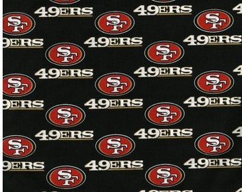 100% cotton San Francisco SF 49ers 49er fabric NFL Team football - sold by less than one yard