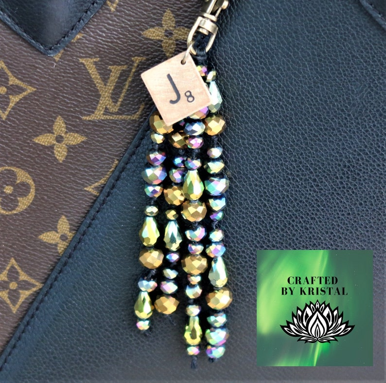charms Your choice of four styles Macrame keyringspurse charms in shades of green