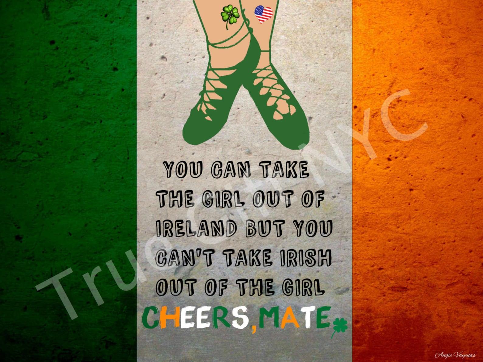 irish, saint patrick's day, cheers mate, ireland, lucky clover, shamrock, irish girl, dancing shoes, ballet shoes, st. patri