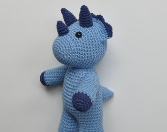 Tony the Triceratops - Amigurumi toy, crochet PATTERN ONLY