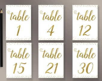 picture about Free Printable Table Numbers 1 30 known as Desk figures 1 30 Etsy