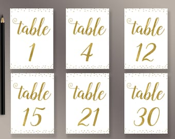 picture relating to Free Printable Table Numbers identify Desk figures 1 30 Etsy