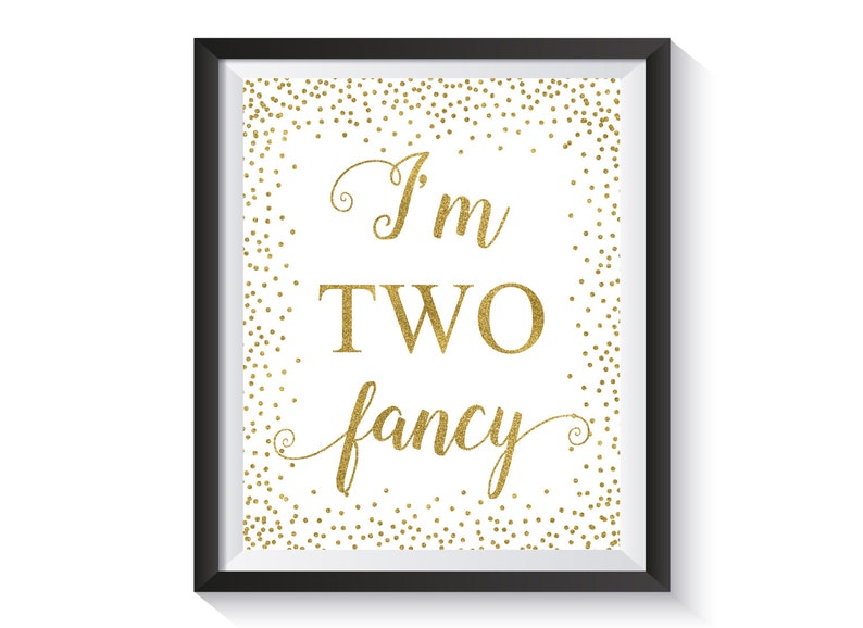 Im Two Fancy Gold Confetti Second Birthday Party