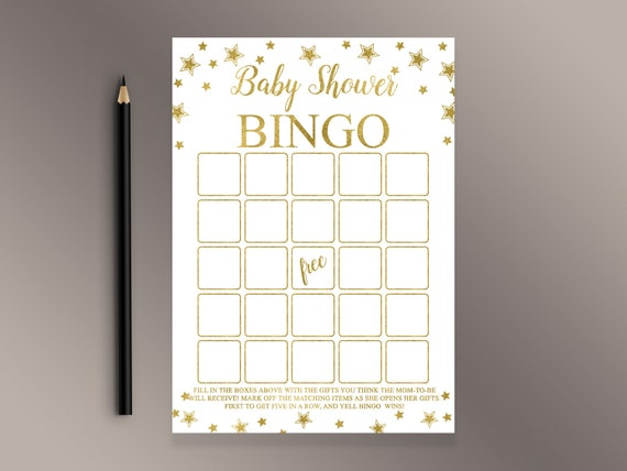 Baby Bingo Baby Shower Bingo Twinkle Twinkle Little Star Etsy