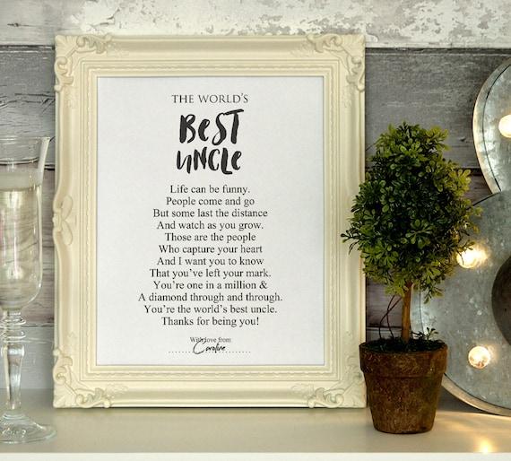 Onkel Geschenk Gedicht Druck Bedruckbar Kann Personalisiert Werden Poesie Diy Geschenk Idee Wertschätzung Geburtstagsgeschenk Instant Download