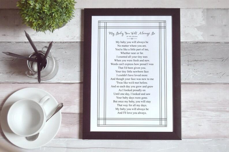 nursery art printable poem quote art kids room neutral image 0
