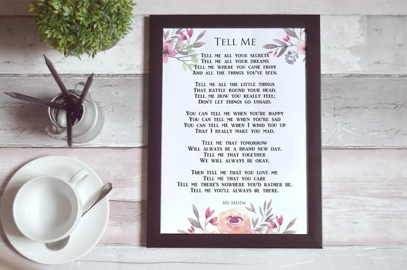 Romantic Wedding Poem Printable  Poetry For Your Wedding  image 0