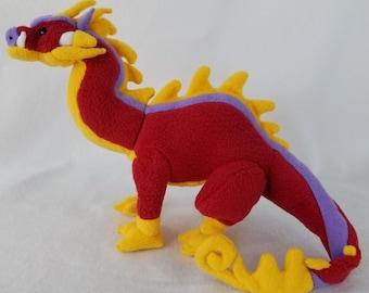 Red Fireball Dragon Plush