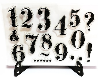wood mounted or unMounted  scrapbooking supplies number8668 Rubber stamp  Number Rubber Stamp cling