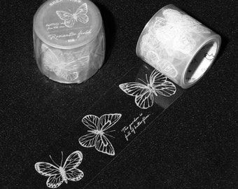 Butterflies Clear Tape Colorful Garden Monarch Butterfly Species Butterfly PET Tape Specimen Insect Bullet Journal Nature