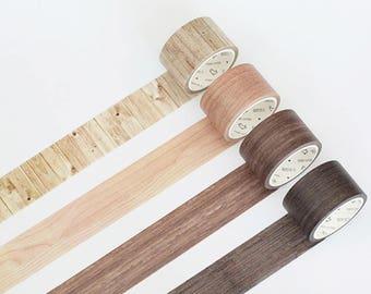 Wood Washi Tape, Wood Grain Washi Tape, Washi Masking Tape, Wall Board Washi Tape, Minimalist Washi Tape, Khaki Wood, Brown, Tree Bark, Deco