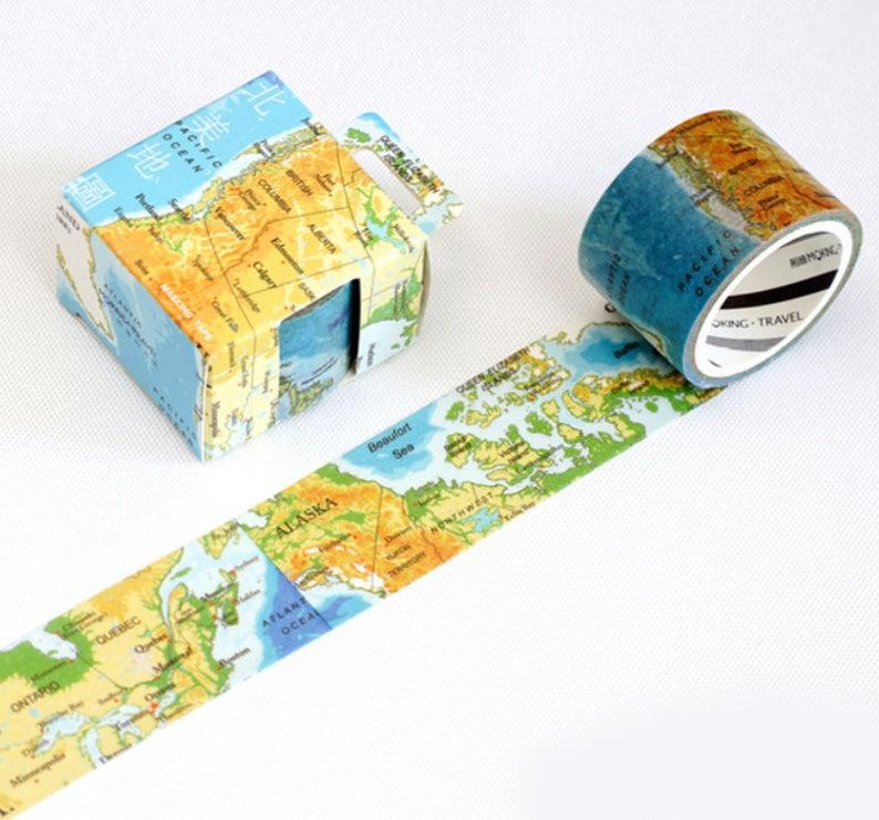Globus Karte.Karte Dekoband Globus Karte Washi Tape Japanischen Washi Masking Tape Vintage Strasse Reise Welt Ozean Land Kontinente Halbkugel