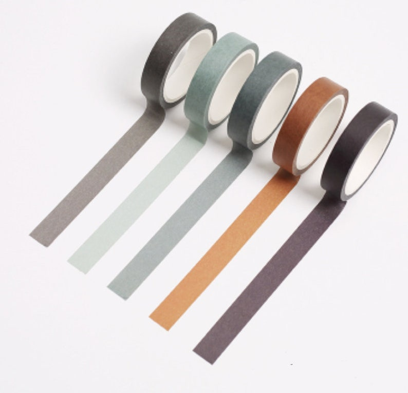 Set of 5 Washi Tape Forest Series Washi Tape Scrap booking image 0