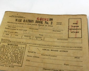 photograph relating to Ration Book Ww2 Printable named War ration e-book Etsy