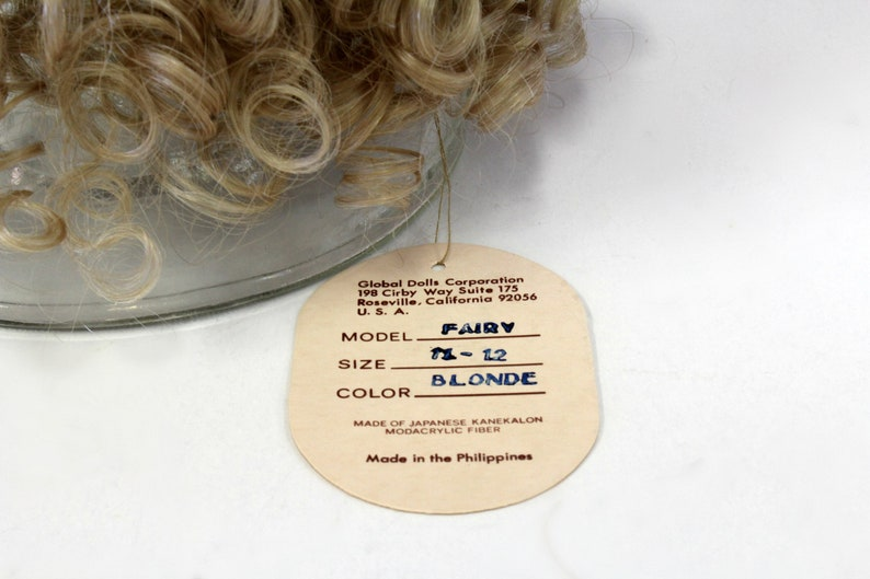 Vintage Global Hand Styled Doll Wig Model Fairy Blonde Made with Japanese Kanekalon Modacrylic Fiber in Philippines Sise 11-12 with Tag