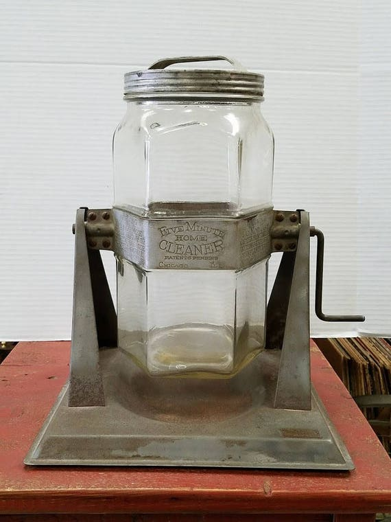 1930's Five Minute Home Cleaner Glass Washing Machine Property of Texas  Tech College Collectible FREE Shipping