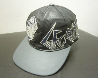 c8542d27b0e Vintage 80 90s Georgetown Hoyas leather baseball cap hat