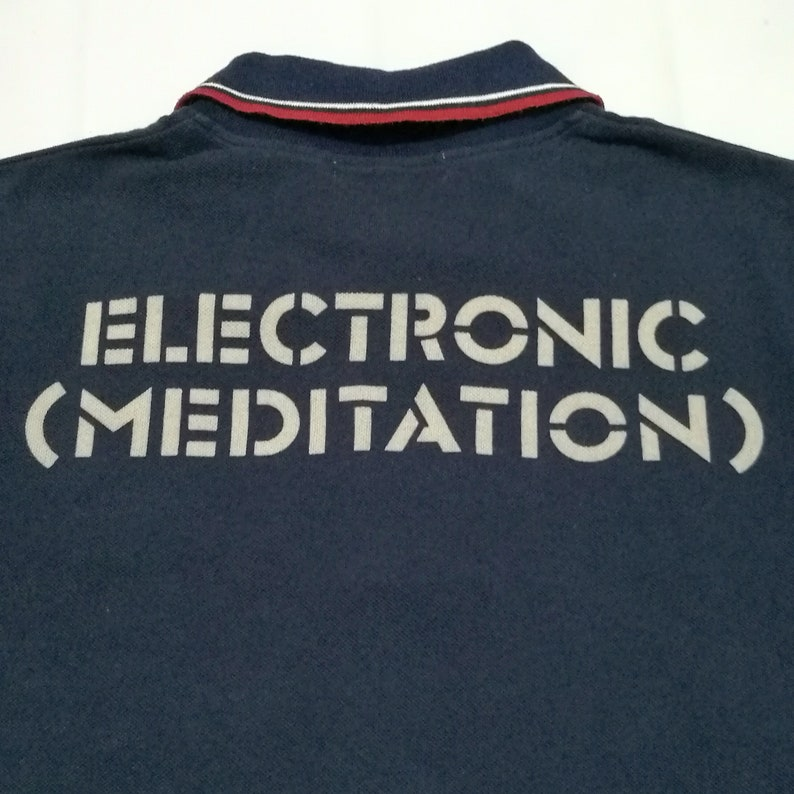 ringer polo shirt size SM Meditation Stunning HYSTERIC GLAMOUR Electronic
