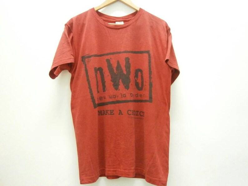 35b21dc6 Vintage 90s NWO Red & Black logo Make a Choice t shirt size M | Etsy