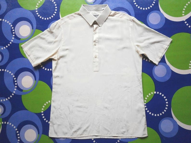 43e8d423 Classic! Authentic Vintage 70s YSL Yves Saint Laurent pure silk polo shirt  size 3
