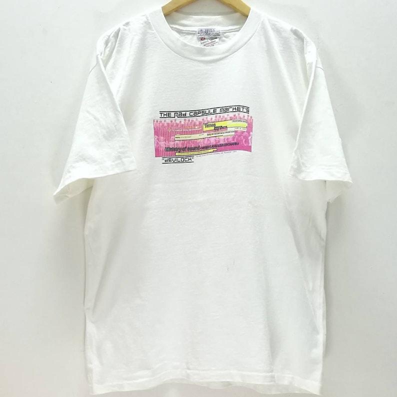 Rare Vintage DEVILOCK x The MAD CAPSULE Markets Japanese Hardcore band t shirt size L