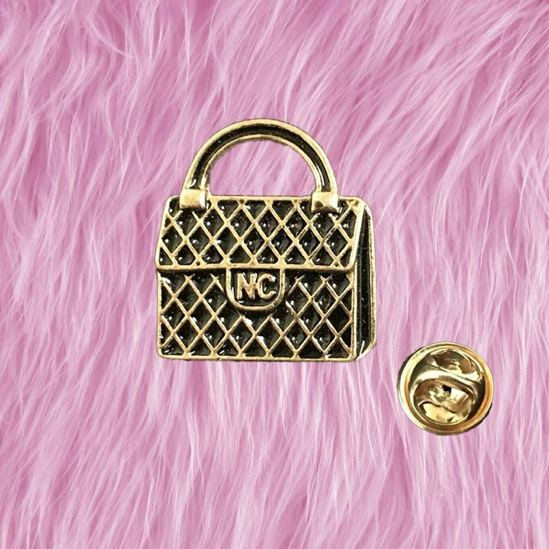 Handbag Enamel Pin Metal Lapel Pin Brooches Badges Tie Pins