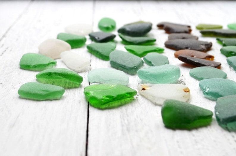 Genuine sea glass for craft Medium pieces of sea glass Multicolored beach glass mix Sea glass bulk Art supply Colored Seaglass Stained glass
