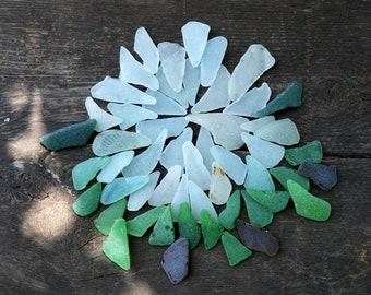 53 Oblong Sea glass Triangle Shaped Sea Glass Elongated Sea glass Bulk sea glass Genuine Sea glass jewelry Beach glass Jewelry Craft Supply