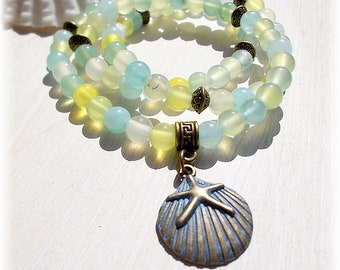 Aquamarine Gemstone Wrap Bracelet