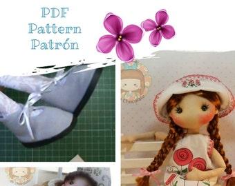 Patrón Muñeca Pepita 2.0 45 cm. Pattern Pepita doll 17''