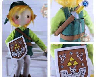 """Doll nugget Toon Link 42 cm. Toon Link doll 16 """""""