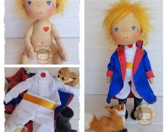 Pepito El Principito doll handmade fabric doll 33 cm / Pepito Little Prince doll handmade fabric doll 12,9''