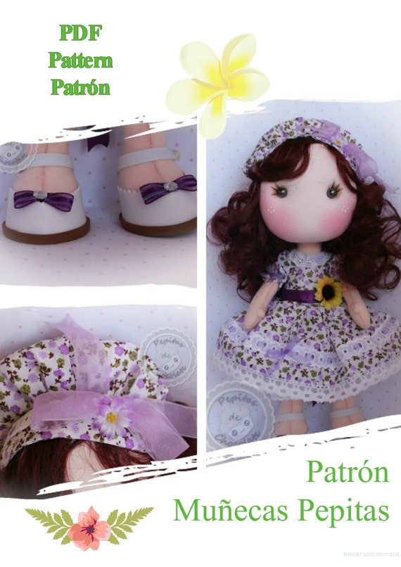 Patrón muñecas Pepita 35 cm. Pattern Pepita Doll 13\'\'   Etsy