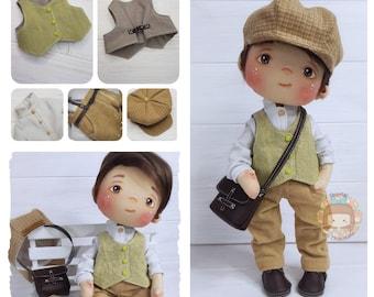 Doll Pepito Gilbert de Tejas Verdes handmade fabric doll 32 cm / Pepito Gilbert doll handmade fabric doll 12,5''