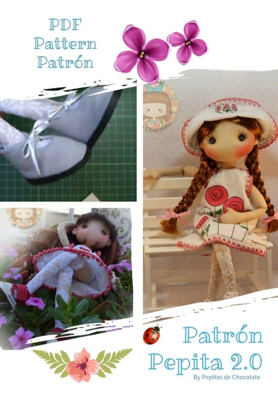 Patrón Muñeca Pepita 2.0 45 cm. Pattern Pepita doll