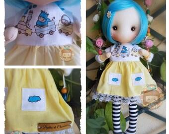 Pepita Julieta doll inspiration Gorjuss 36 cm with swing / Pepita Juliet doll Gorjuss inspiration 14'' with swing