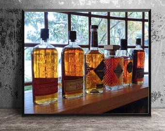 Bottles of Bourbon in Tasting Room at Stitzel-Weller Distillery, Masculine Wall Art, Bourbon Decor, Bourbon Gift, Bar Wall Art, Whiskey Art