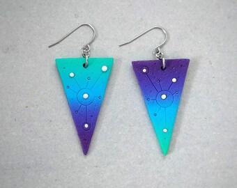 """Earrings series """"Deep space"""""""