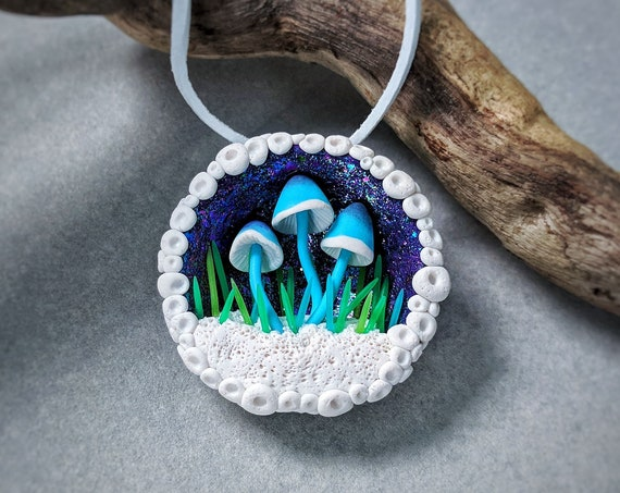 Mushroom necklace Mushroom Pendant Mushroom Jewelry Mushroom Gift Gift For Her Birthday Gift Psychedelic Gift Intresting Gift Bright Gift