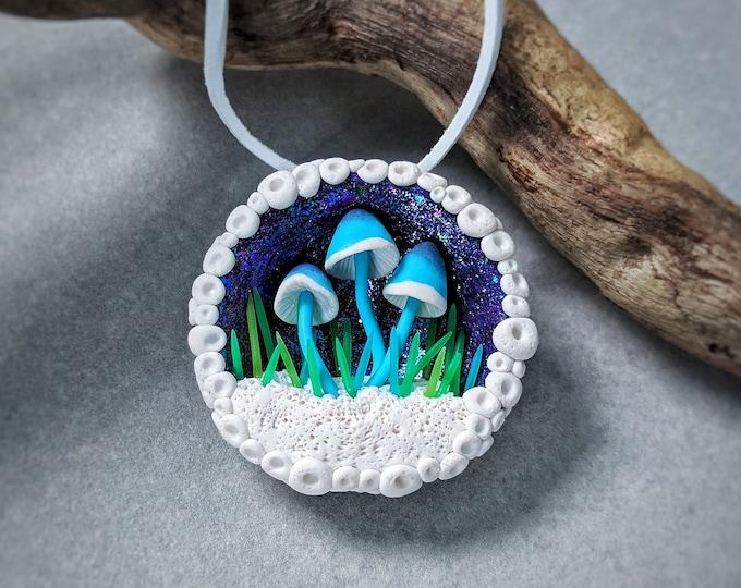 Mushroom necklace Mushroom Pendant Mushroom Jewelry Mushroom Gift Gift For Her Birthday Gift Psychedelic Gift Intresting Gift Bright Gift
