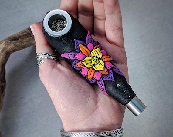 """Smoking pipe. Series  """"Flower Mandala"""""""
