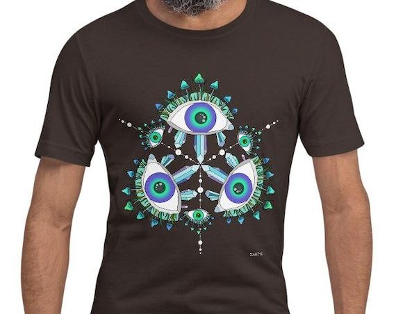 GADZYL mushroom Short-Sleeve Unisex T-Shirt psychedelic gift for him