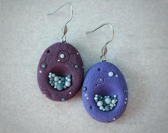 """Earrings. Series """"Space Stones"""""""