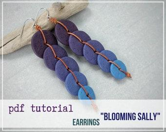 Tutorial Earrings BLOOMING SALLI from polymer clay tutorial PDF by Varya Jewelry
