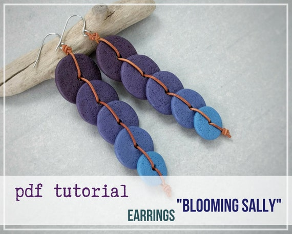 Tutorial Earrings BLOOMING SALLI from polymer clay tutorial PDF by Varya Jewelry