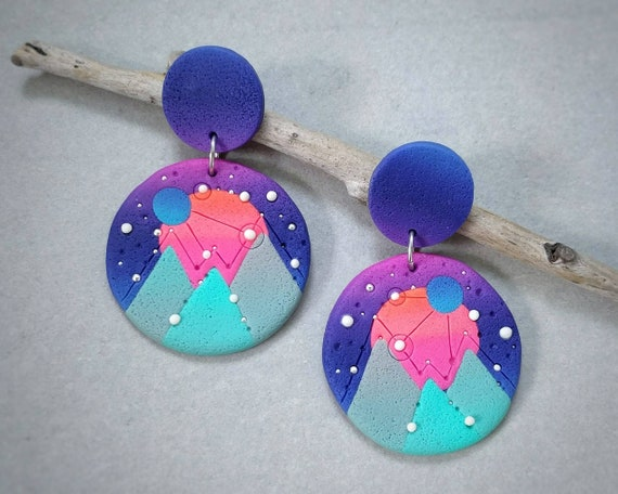 "Earrings ""Dawn on mars"""